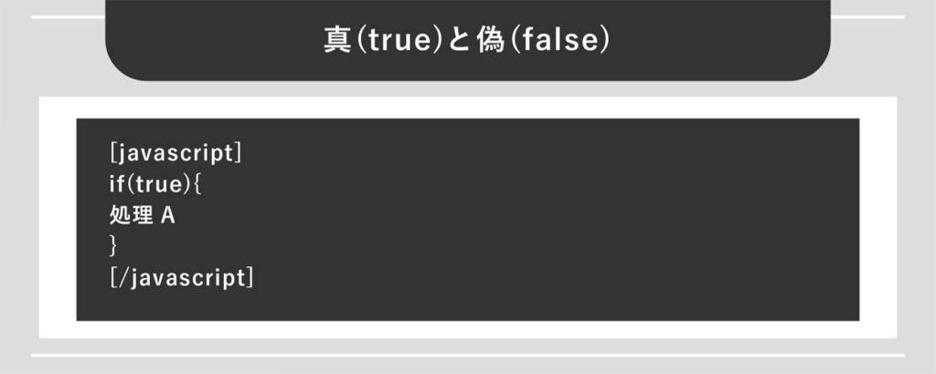 真(true)と偽(false)