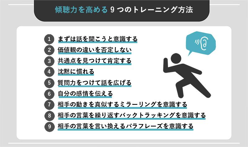 傾聴力を高める9つのトレーニング方法