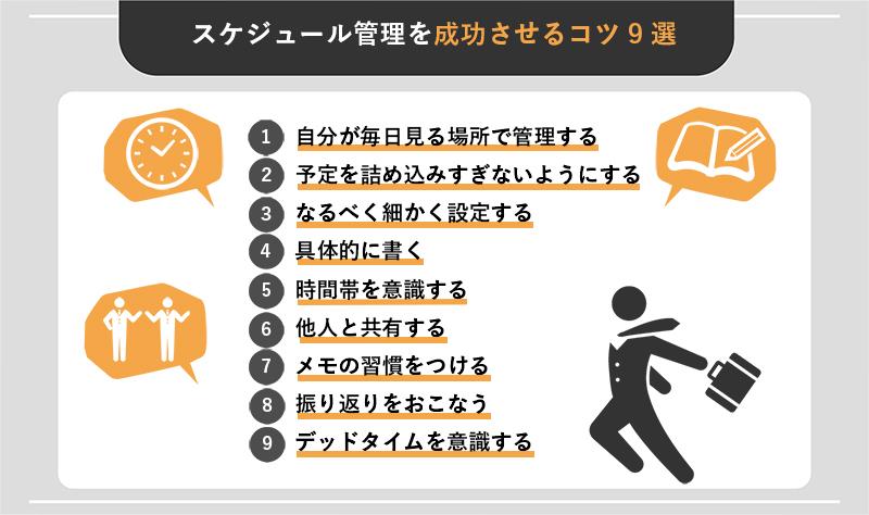 スケジュール管理を成功させるコツ9選