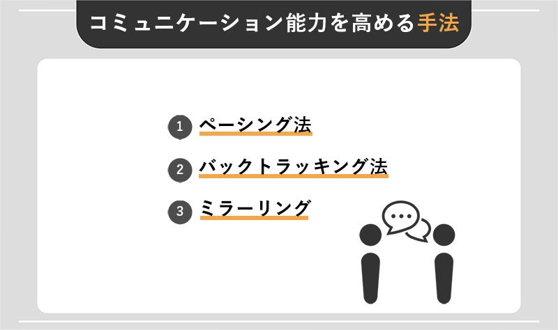 コミュニケーション能力を高める具体的な3つの手法