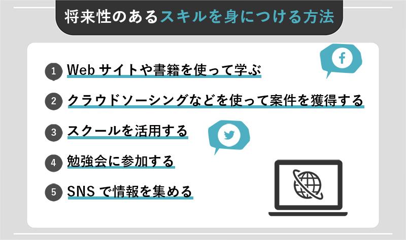 Webデザイナーが将来性のあるスキルを身につける方法5選