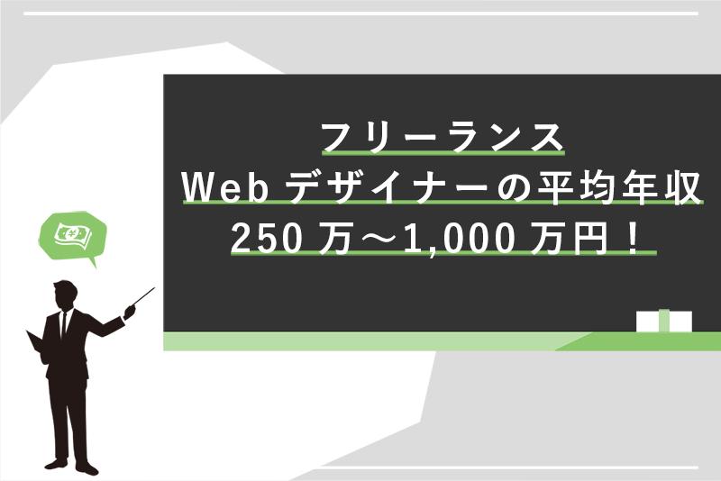 フリーランスWebデザイナーの平均年収は250万〜1,000万円!