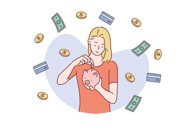 貯金をしているイメージ