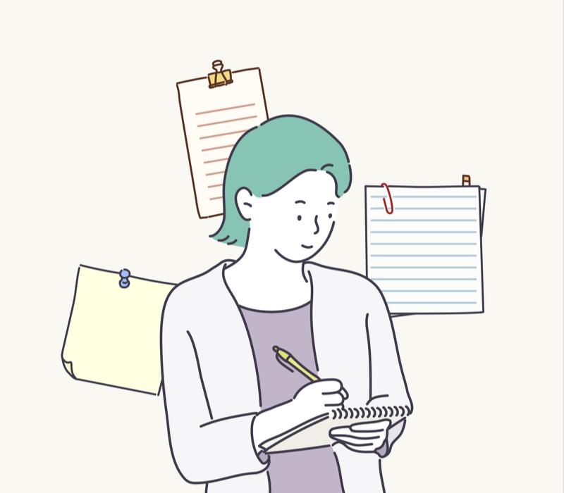 メモをしている女性のイメージ