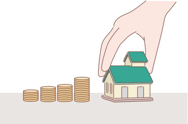 住宅ローンのために資金を集めているイメージ
