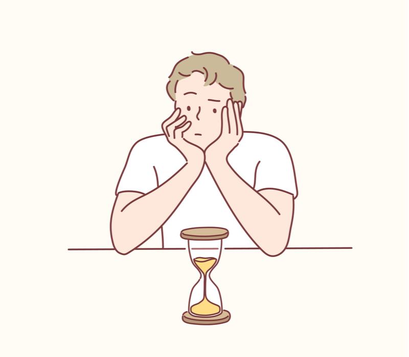 仕事が遅い人のイメージ