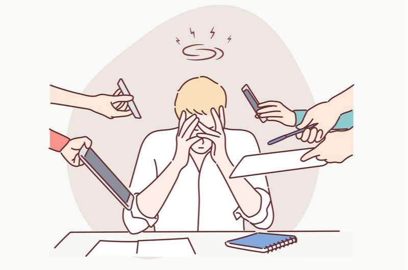 仕事が遅い5つの原因のイメージ