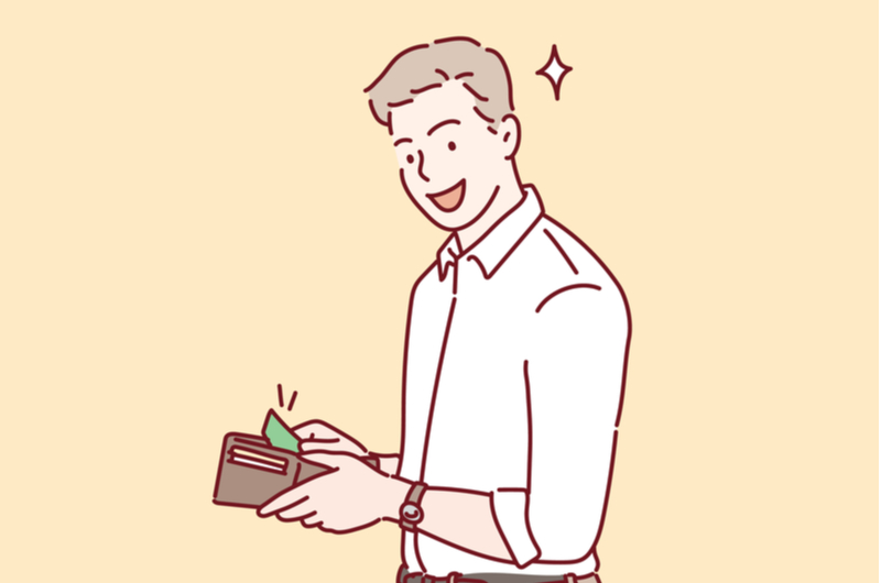 お金を支払う男性のイメージ