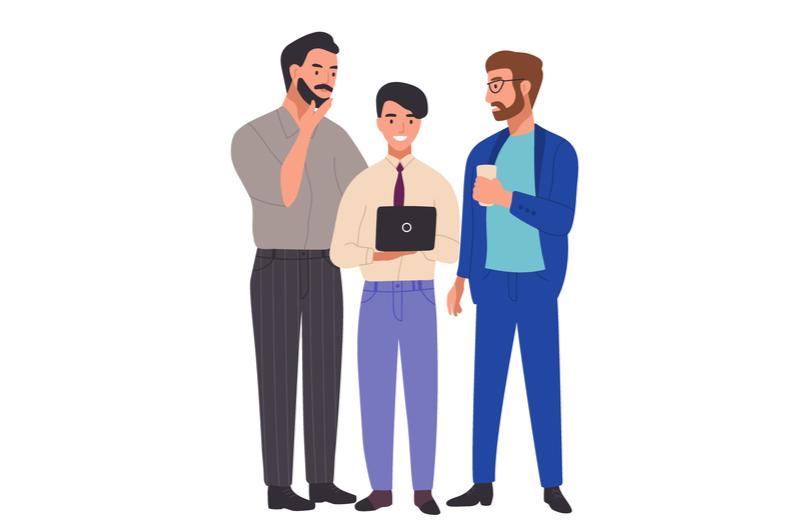就職活動をする大学生のイメージ