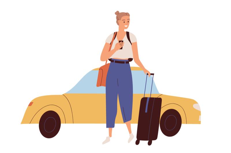 旅行をする大学生のイメージ