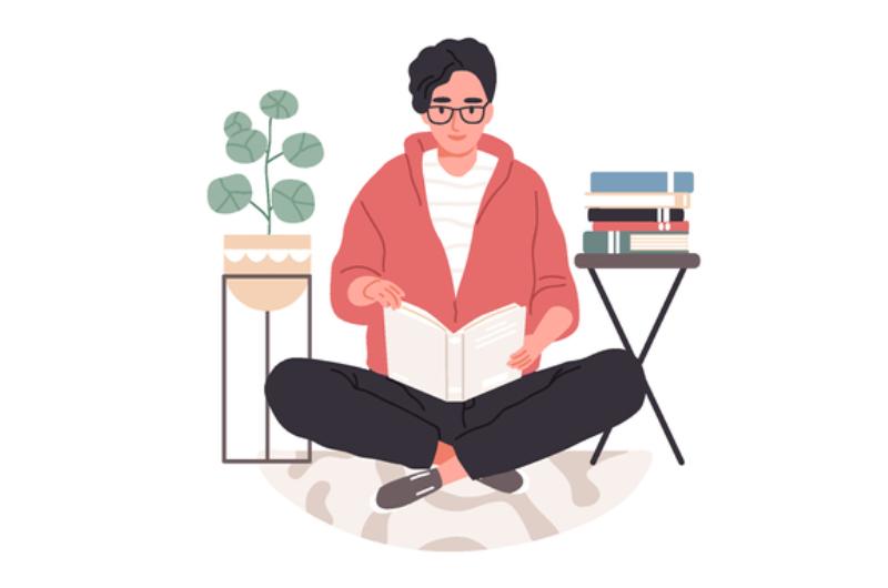 読書する大学生のイメージ