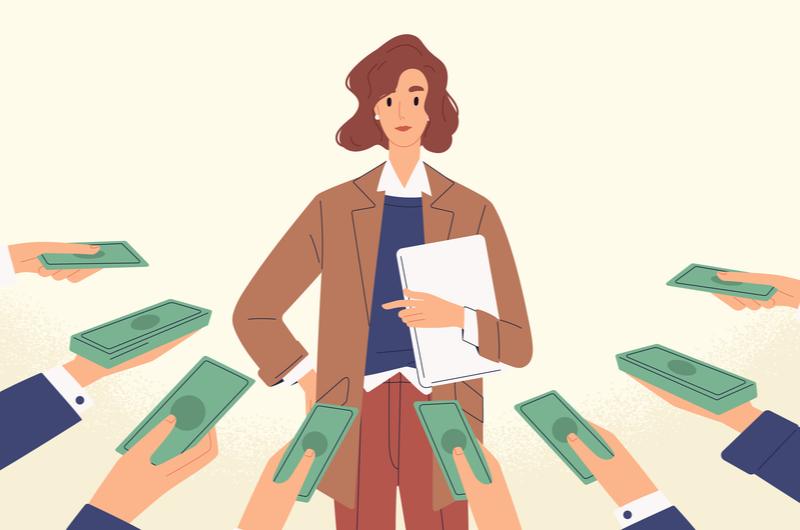資金を調達する大学生のイメージ