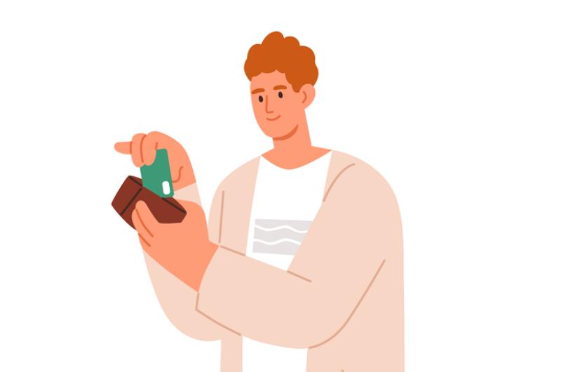 学生カードを持っているイメージ