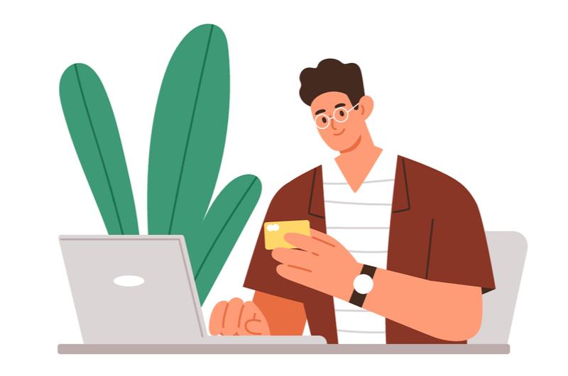 大学生がクレジットカードを使うイメージ