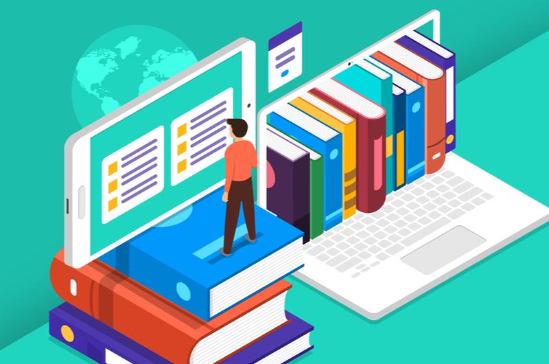 Webデザインのアルバイトで役立つ資格を学ぶ人のイメージ