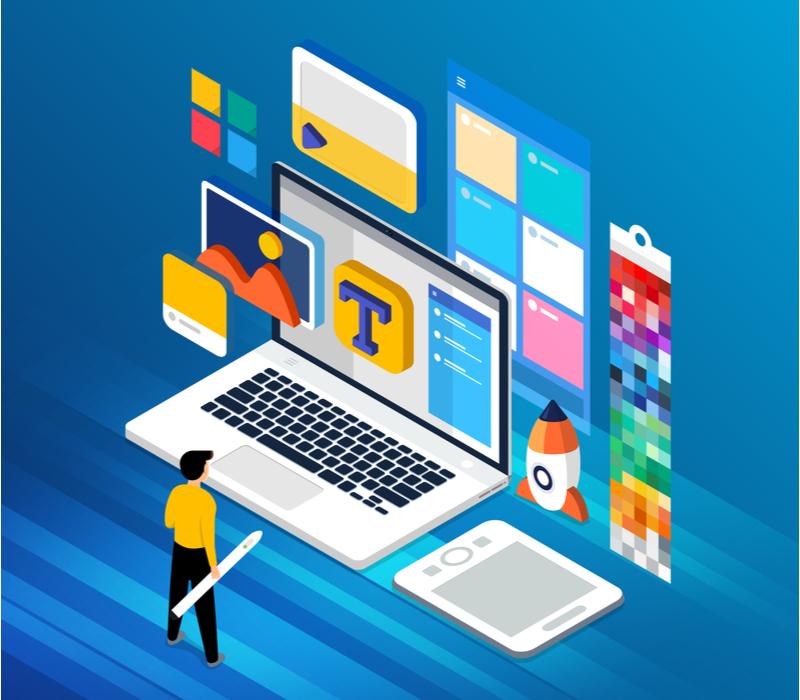 Webデザイナーのアルバイト業務のイメージ