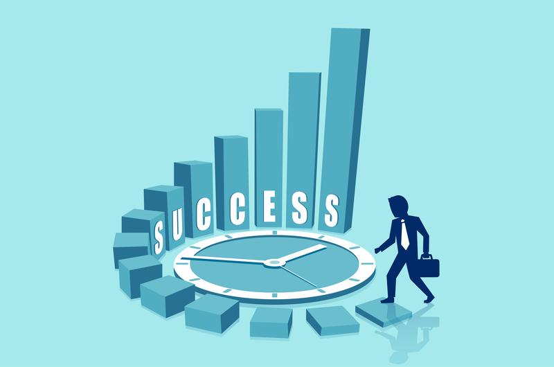 時間の使い方が成功につながるイメージ