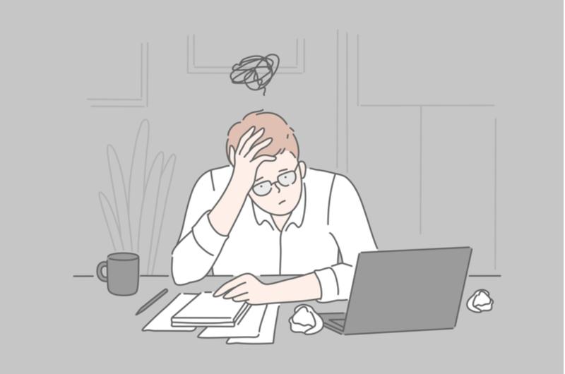 転職に失敗した会社員のイメージ