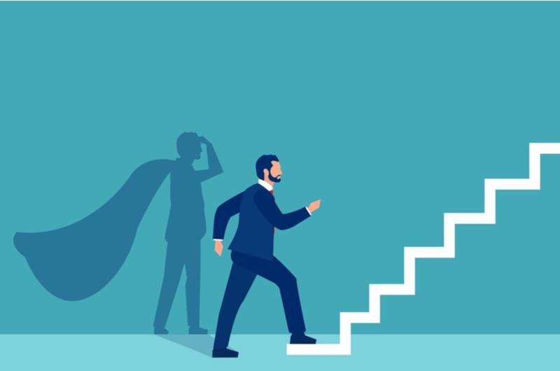 仕事のスキルアップに踏み出す社会人のイメージ