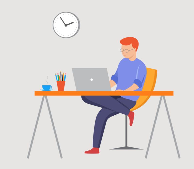 プログラミング学習をする人のイメージ