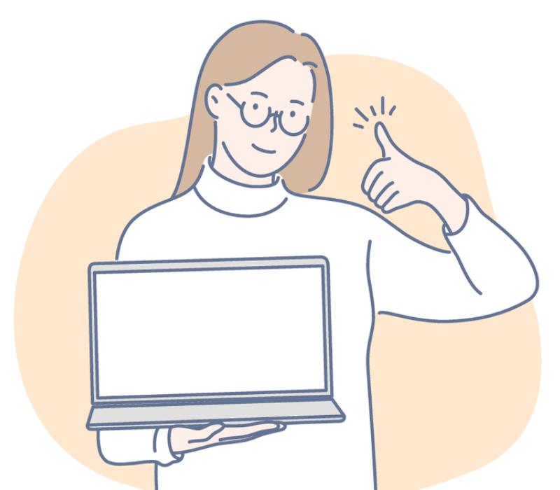 プログラミング問題を解けるサイトでの学習メリットを伝えようとする女性のイメージ