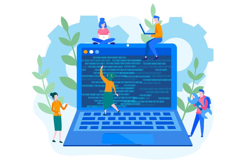 プログラミングスクールで学ぶイメージ