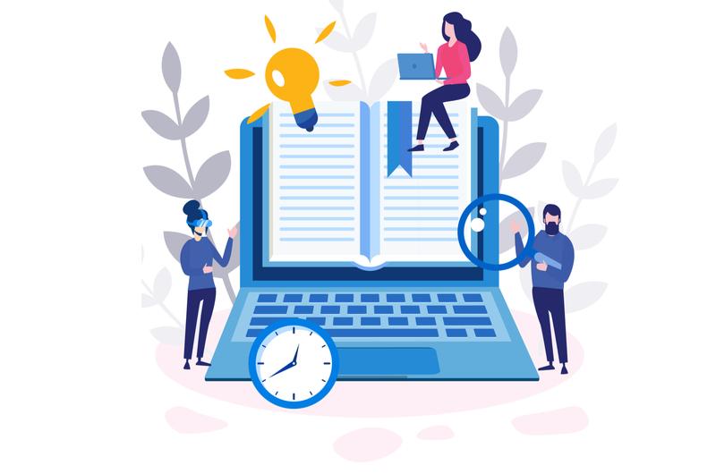 プログラミング学習で本を活用するイメージ
