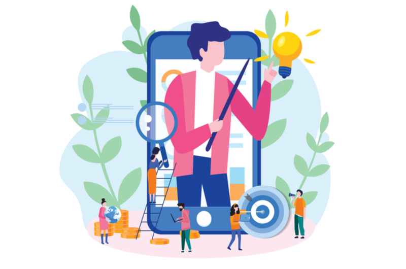 オンライン学習のデメリットを教える人のイメージ