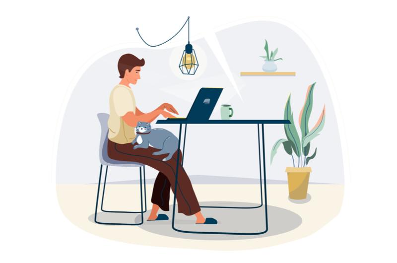 プログラミングをする人のイメージ