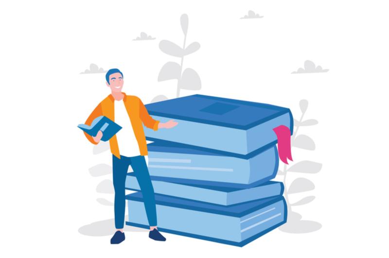 おすすめの書籍を教えてくれる人のイメージ