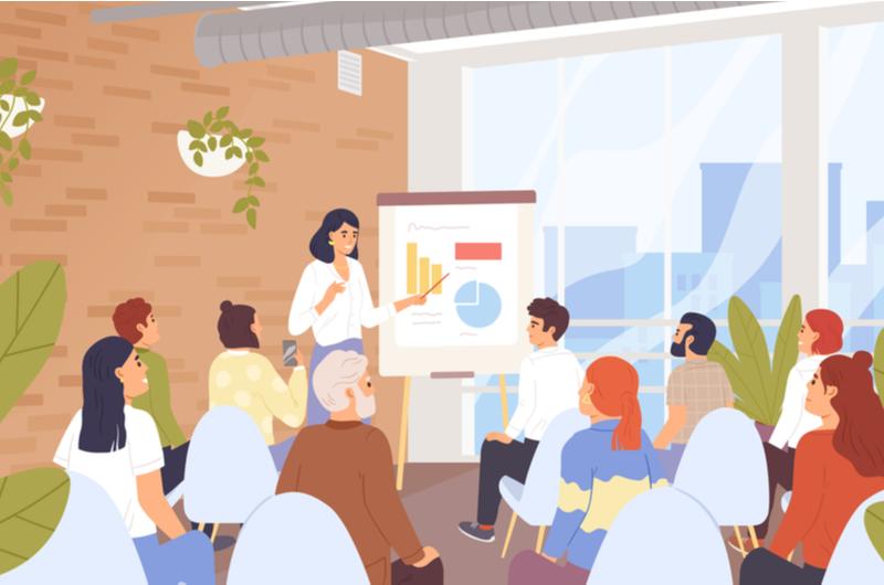 Webデザインの短期学習にスクールを利用するイメージ