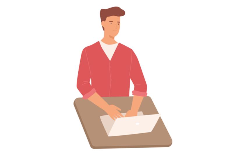 Webデザインを学べるスクールを選ぶ人のイメージ