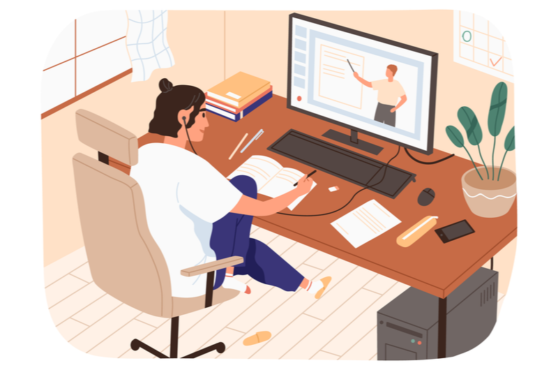 Webデザインを勉強する人のイメージ