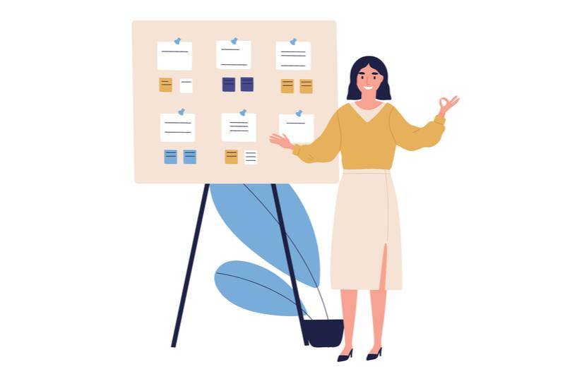 Webデザインを短期で学べるスクールのおすすめを紹介する女性
