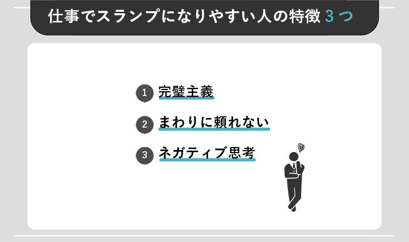 仕事でスランプになりやすい人の特徴3つ