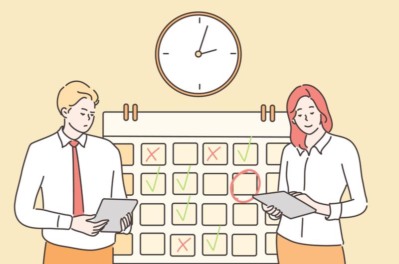 仕事で時間管理が重要なイメージ