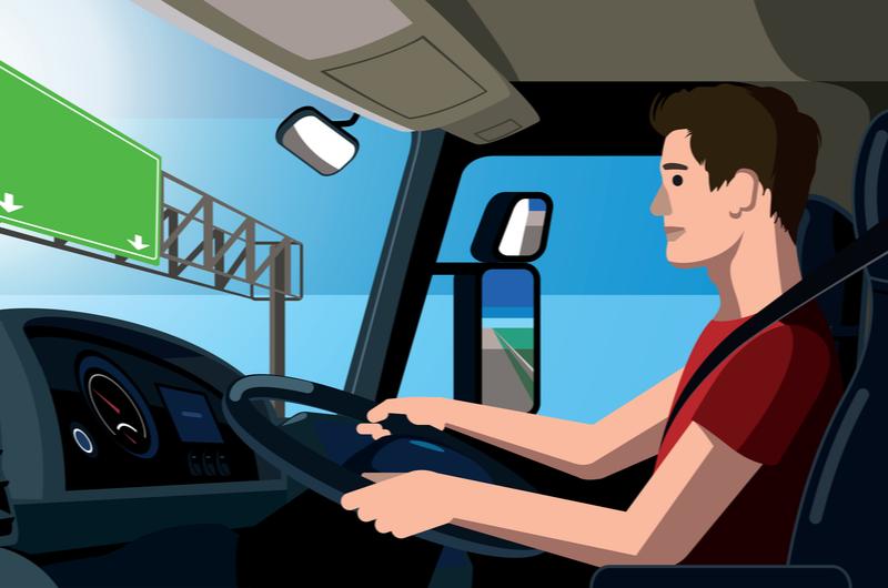 人との関わりが少ない仕事であるトラックの運転手