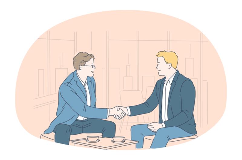 握手している人