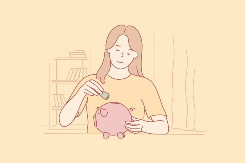 貯金する人