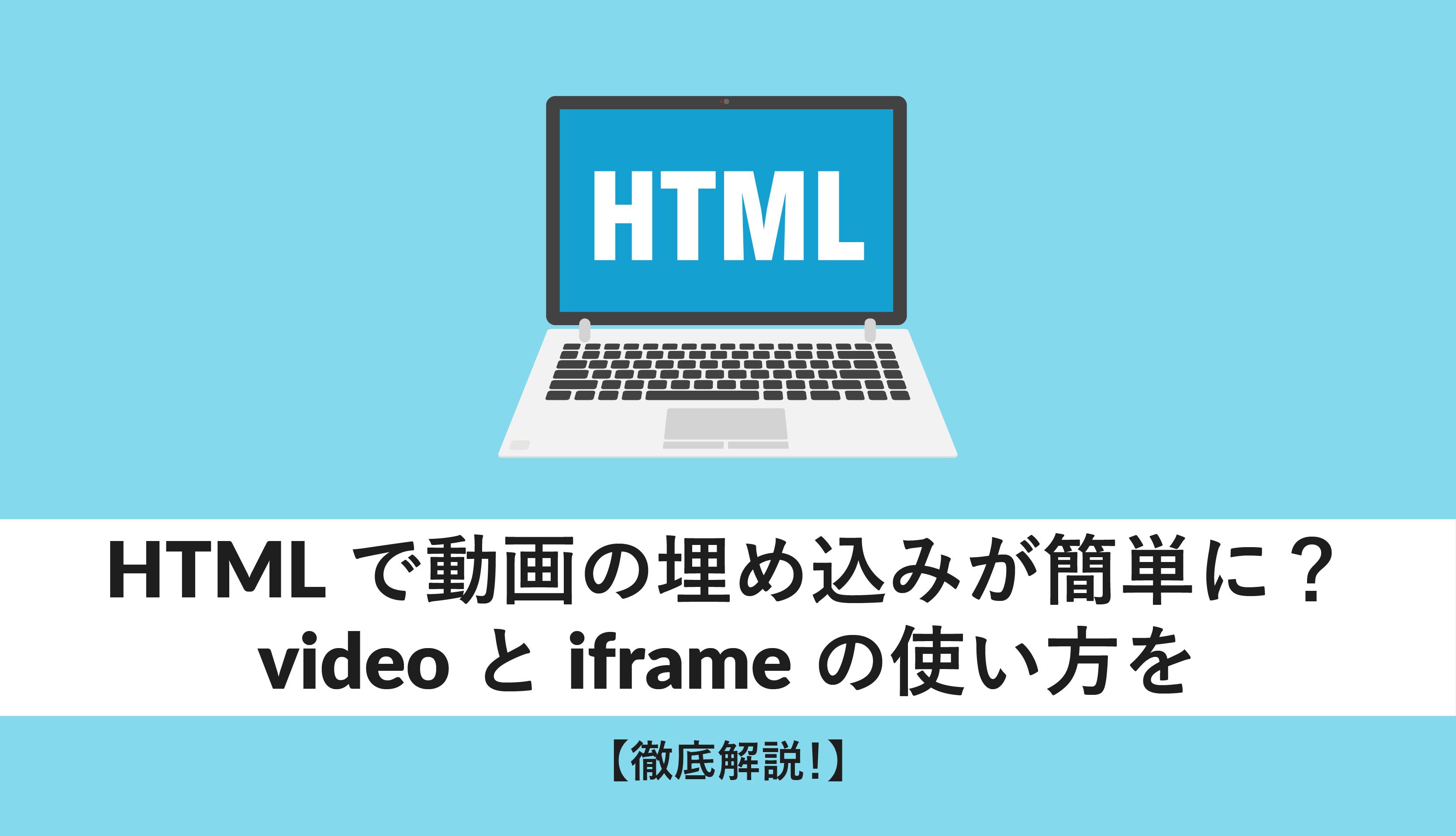 html 動画
