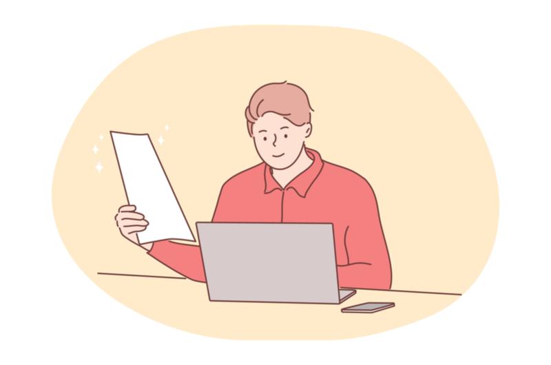 パソコンを使って作業する人