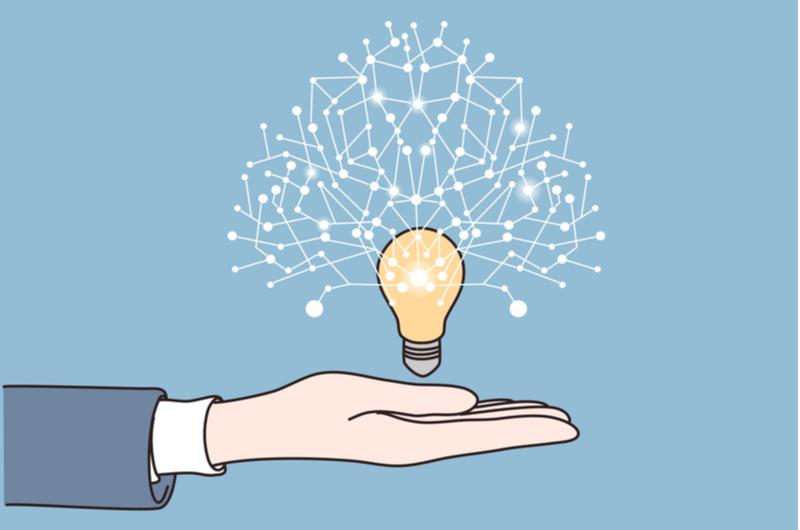 電球とネットワークのイメージ