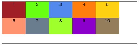 align-content: flex-start;を表す画像