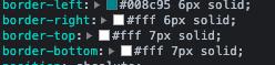 検証機能の色を参照するための画像